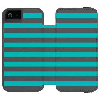 Capa Carteira Incipio Watson™ Para iPhone 5 Listras horizontais do Aqua