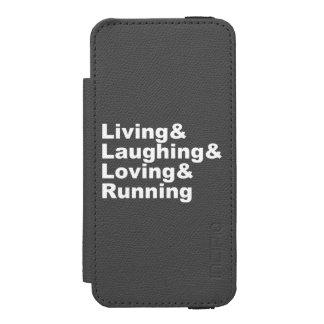 Capa Carteira Incipio Watson™ Para iPhone 5 Living&Laughing&Loving&RUNNING (branco)