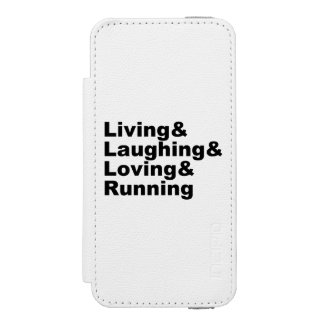 Capa Carteira Incipio Watson™ Para iPhone 5 Living&Laughing&Loving&RUNNING (preto)