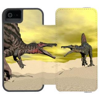 Capa Carteira Incipio Watson™ Para iPhone 5 Luta do dinossauro de Spinosaurus - 3D rendem