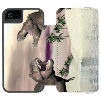Capa Carteira Incipio Watson™ Para iPhone 5 Luta do dinossauro do rex do tiranossauro - 3D