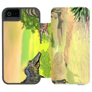 Capa Carteira Incipio Watson™ Para iPhone 5 Luta dos dinossauros de Spinosaurus - 3D rendem