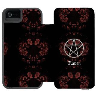 Capa Carteira Incipio Watson™ Para iPhone 5 Malva eterno gótico do Pentacle