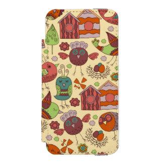 Capa Carteira Incipio Watson™ Para iPhone 5 Mão colorida abstrata design floral tirado do
