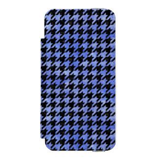 CAPA CARTEIRA INCIPIO WATSON™ PARA iPhone 5 MÁRMORE HOUNDSTOOTH1 PRETO & AGUARELA AZUL