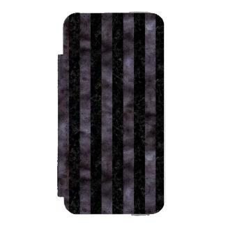 CAPA CARTEIRA INCIPIO WATSON™ PARA iPhone 5 MÁRMORE STRIPES1 PRETO & AGUARELA PRETA