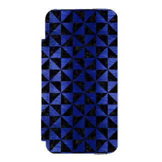 CAPA CARTEIRA INCIPIO WATSON™ PARA iPhone 5 MÁRMORE TRIANGLE1 PRETO & METAL ESCOVADO AZUL