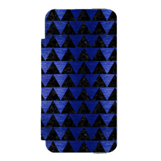 CAPA CARTEIRA INCIPIO WATSON™ PARA iPhone 5 MÁRMORE TRIANGLE2 PRETO & METAL ESCOVADO AZUL
