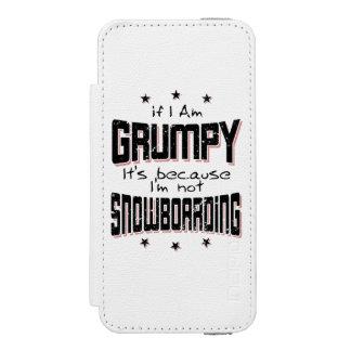 Capa Carteira Incipio Watson™ Para iPhone 5 Não SNOWBOARDING MAL-HUMORADA (preto)