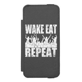 Capa Carteira Incipio Watson™ Para iPhone 5 O ACORDAR COME A REPETIÇÃO #2 da ROCHA (branca)