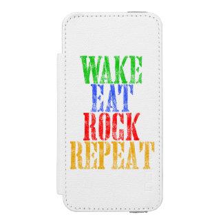 CAPA CARTEIRA INCIPIO WATSON™ PARA iPhone 5 O ACORDAR COME A REPETIÇÃO #3 DA ROCHA