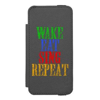 Capa Carteira Incipio Watson™ Para iPhone 5 O acordar come canta a repetição