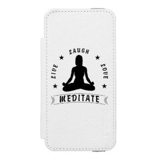 Capa Carteira Incipio Watson™ Para iPhone 5 O amor vivo do riso Meditate o texto fêmea (o
