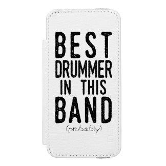 Capa Carteira Incipio Watson™ Para iPhone 5 O melhor baterista (provavelmente) (preto)
