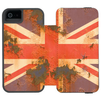 Capa Carteira Incipio Watson™ Para iPhone 5 O vintage oxidou bandeira de Reino Unido