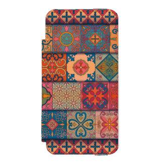 Capa Carteira Incipio Watson™ Para iPhone 5 Ornamento de talavera do mosaico do vintage