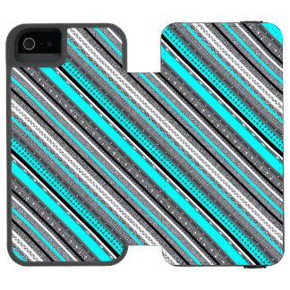 Capa Carteira Incipio Watson™ Para iPhone 5 Padrões cinzentos bonitos do asteca do aqua