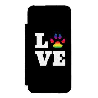 Capa Carteira Incipio Watson™ Para iPhone 5 Pata do arco-íris