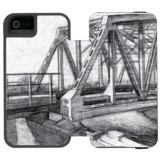 Capa Carteira Incipio Watson™ Para iPhone 5 Ponte velha