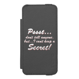 Capa Carteira Incipio Watson™ Para iPhone 5 Pssst… eu não posso manter um SECRETO (branco)