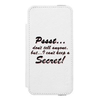 Capa Carteira Incipio Watson™ Para iPhone 5 Pssst… eu não posso manter um SECRETO (o preto)