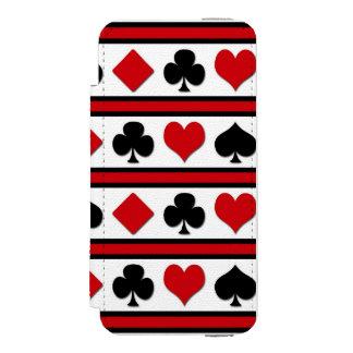 Capa Carteira Incipio Watson™ Para iPhone 5 Quatro ternos do cartão