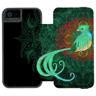 Capa Carteira Incipio Watson™ Para iPhone 5 Quetzal encaracolado