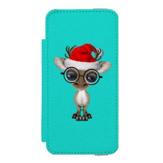 Capa Carteira Incipio Watson™ Para iPhone 5 Rena Nerdy do bebê que veste um chapéu do papai