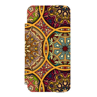 Capa Carteira Incipio Watson™ Para iPhone 5 Retalhos do vintage com elementos florais da