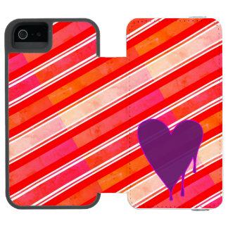 Capa Carteira Incipio Watson™ Para iPhone 5 Roxo de derretimento do coração