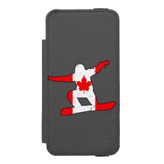 Capa Carteira Incipio Watson™ Para iPhone 5 SNOWBOARDER da folha de bordo (preto)