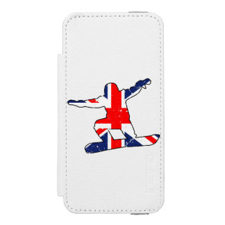 Capa Carteira Incipio Watson™ Para iPhone 5 SNOWBOARDER de Union Jack (preto)