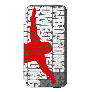 Capa Carteira Incipio Watson™ Para iPhone 5 Snowboarding #1 (branca)