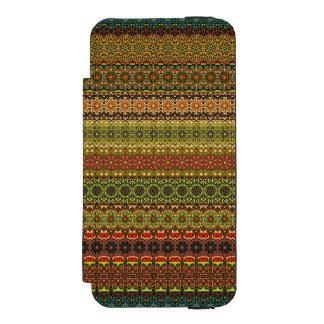 Capa Carteira Incipio Watson™ Para iPhone 5 Teste padrão asteca tribal do vintage