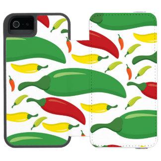 Capa Carteira Incipio Watson™ Para iPhone 5 Teste padrão da pimenta