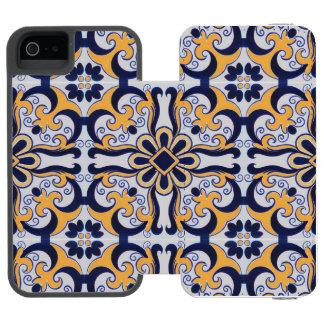 Capa Carteira Incipio Watson™ Para iPhone 5 Teste padrão do azulejo do português
