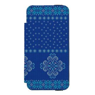 Capa Carteira Incipio Watson™ Para iPhone 5 Teste padrão feito malha Natal