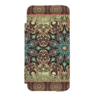 Capa Carteira Incipio Watson™ Para iPhone 5 Teste padrão floral étnico abstrato colorido da