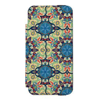 Capa Carteira Incipio Watson™ Para iPhone 5 Teste padrão floral étnico abstrato colorido de da