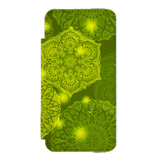 Capa Carteira Incipio Watson™ Para iPhone 5 Teste padrão luxuoso floral da mandala