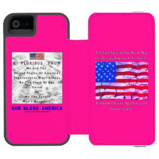 Capa Carteira Incipio Watson™ Para iPhone 5 Uma nação dividida - DEUS ABENÇOE AMÉRICA
