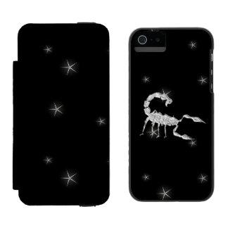 Capa Carteira Incipio Watson™ Para iPhone 5 Vazio do design do zodíaco do escorpião da
