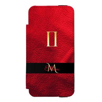Capa Carteira Incipio Watson™ Para iPhone 5 Vermelho e monograma dos Gêmeos do sinal do