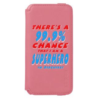 Capa Carteira Incipio Watson™ Para iPhone 6 99,9% Eu sou um SUPER-HERÓI (branco)