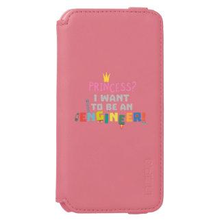 Capa Carteira Incipio Watson™ Para iPhone 6 A princesa Eu quer ser um Engnineer Z2yb2