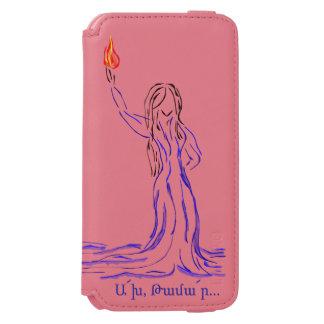 Capa Carteira Incipio Watson™ Para iPhone 6 Akh Tamar com poema