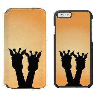 Capa Carteira Incipio Watson™ Para iPhone 6 Amor do girafa