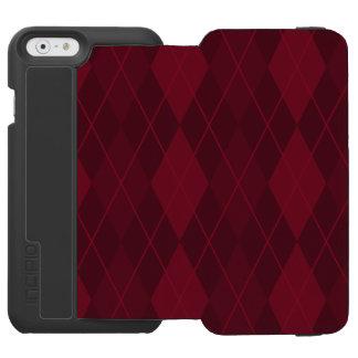 Capa Carteira Incipio Watson™ Para iPhone 6 Argyle vermelho