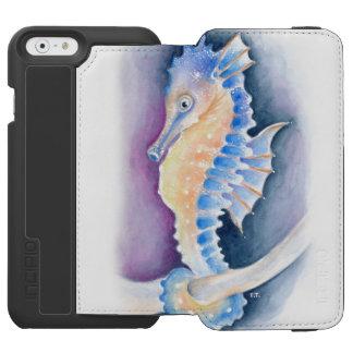Capa Carteira Incipio Watson™ Para iPhone 6 Arte da aguarela do cavalo marinho