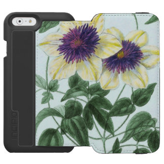 Capa Carteira Incipio Watson™ Para iPhone 6 Arte da flor do Clematis